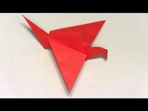 折り紙ランド Vol,60 はばたく鳥の折り方 Ver.1 Origami: How to fold a bird that flies Ver.1