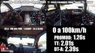 Comparativo GOL 1500hp x Opala 2000hp x Promod 4000hp