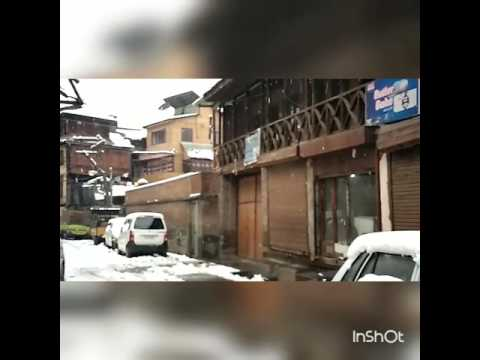 Must watch snow Srinagar J and k (slow motion)