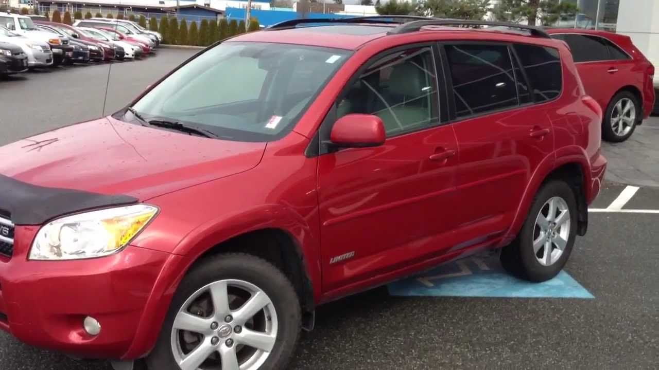 SOLD) 2007 Red Toyota Rav4 V6 Limited # 13898A For Sale At Valley ...