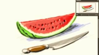 Урок рисования 4 класс  долька арбуза