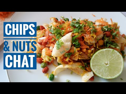 Chips N Nuts Chat, Cooking Without Fire Recipes, Easy 5 Minutes Chat Recipe