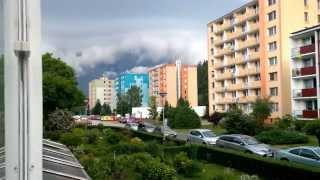 Takto se valila bouřka na Hlubočky (14.6.2015) (4K)