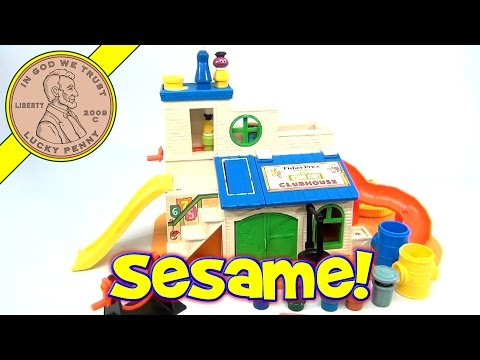 Vintage 1977 Fisher-Price Play Family Sesame Street Clubhouse Set #937 Jim Henson Muppets