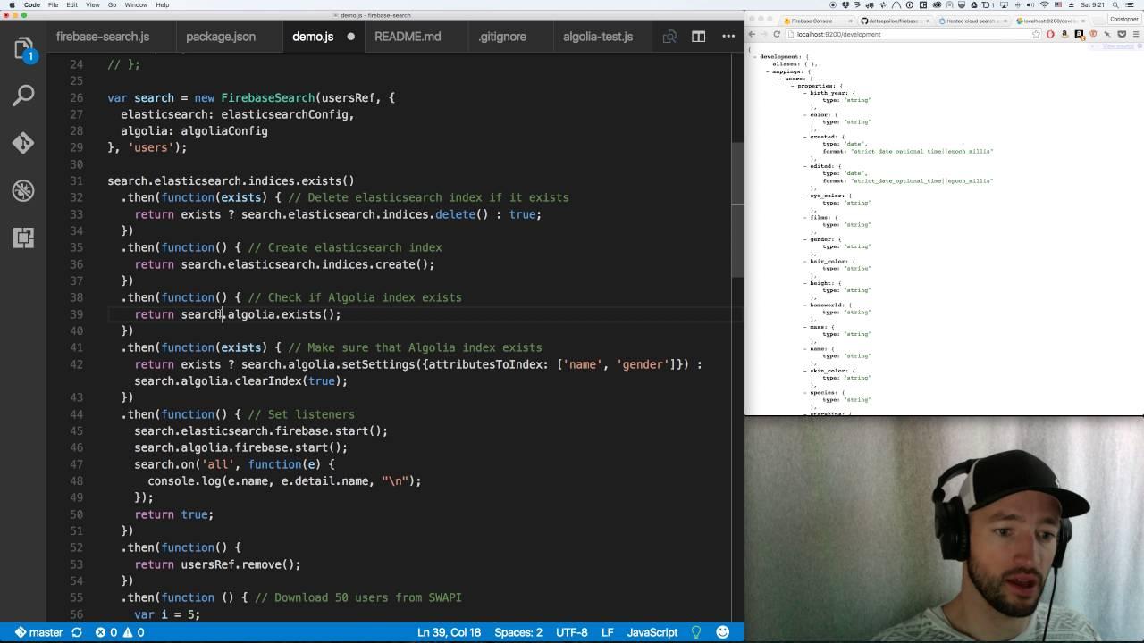Firebase 3 0: Search using Elasticsearch and Algolia