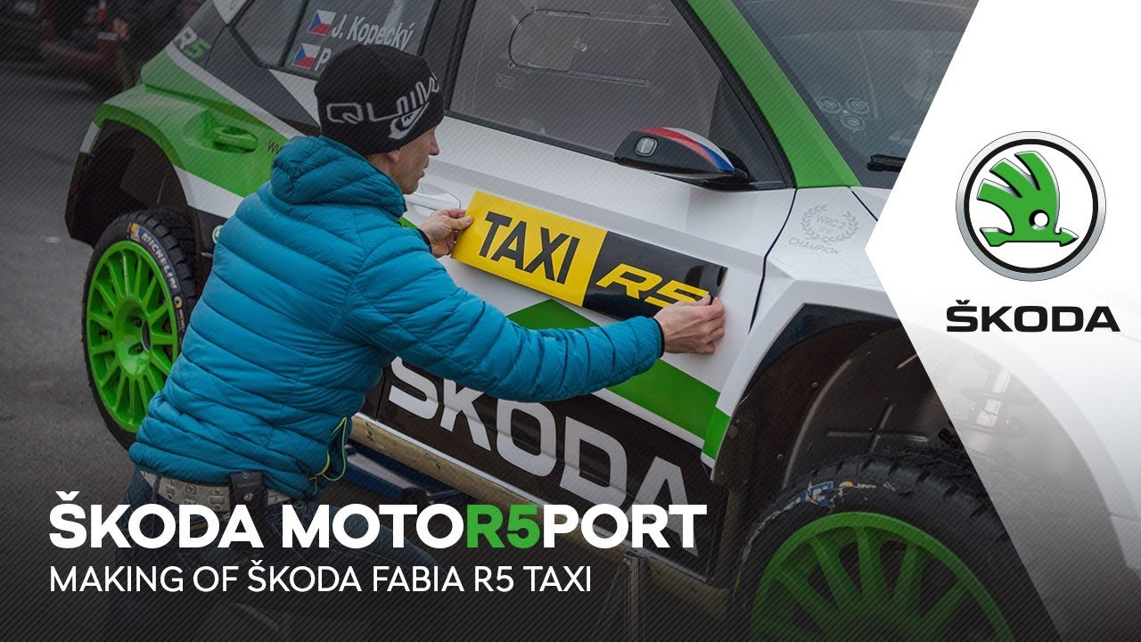 ŠKODA Motorsport | Making of ŠKODA FABIA R5 Taxi - YouTube