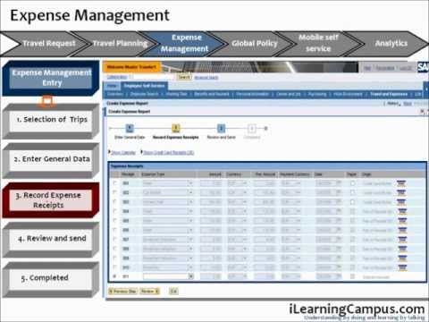 sap travel and expense management t e expense management youtube