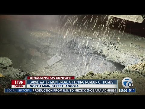 Water main break affects homes in Angola