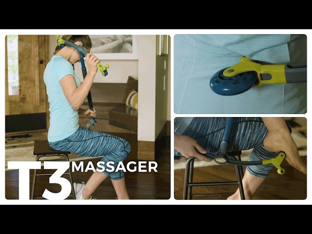 Teeter T3 Massager for Back, Neck and Body Self Massage