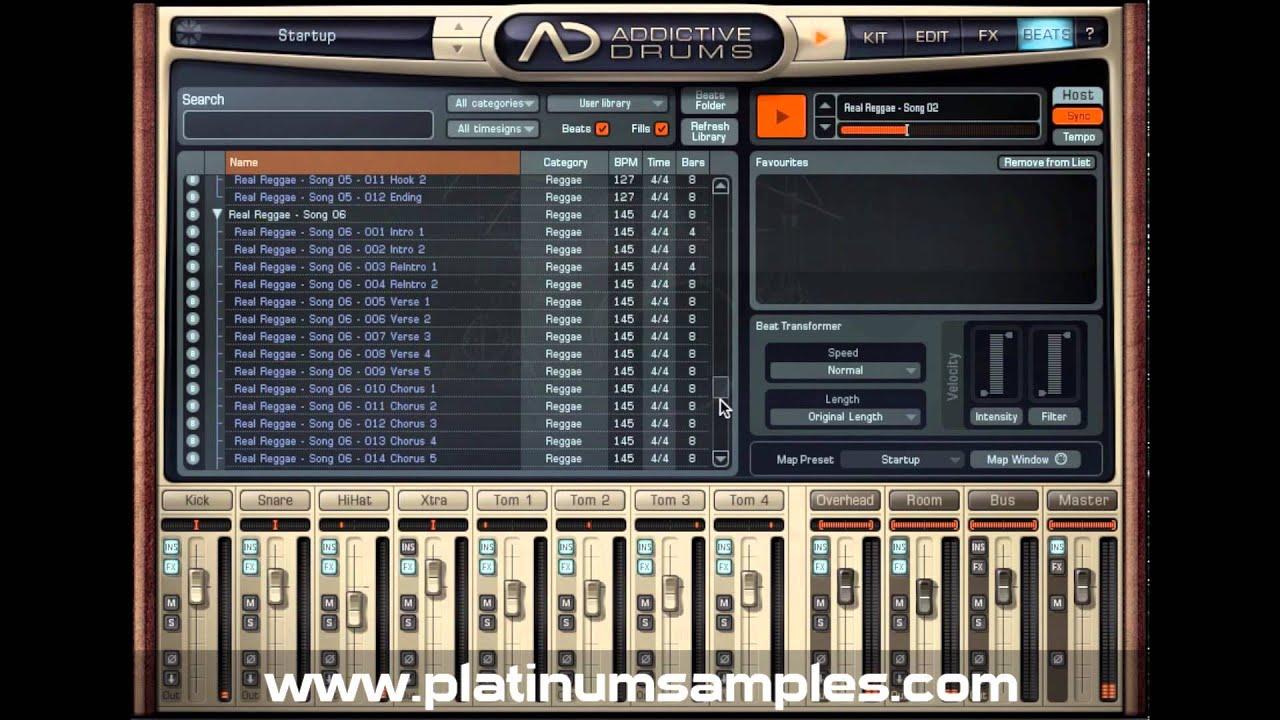 Platinum Samples: Real Reggae Multi-Format MIDI Groove Library