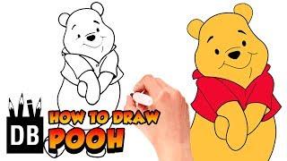 How to Draw  Winnie the Pooh Bear | 4 Kids