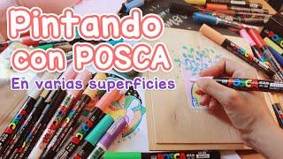 Pintando con POSCA en varias superficies ¿Funcionan?    REVIEW y más!