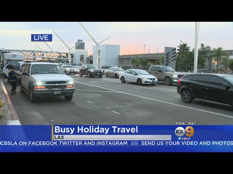 Busy Saturday Morning At LAX For Holiday Travel