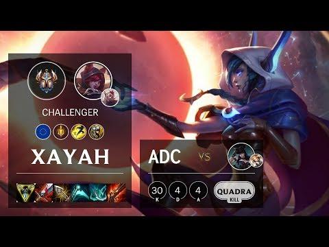 Xayah ADC vs Caitlyn - EUW Challenger Patch 10.11