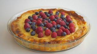"""Блинный пирог """"Масленичный"""" с творогом и изюмом + Рецепт эластичных блинчиков на крахмале"""