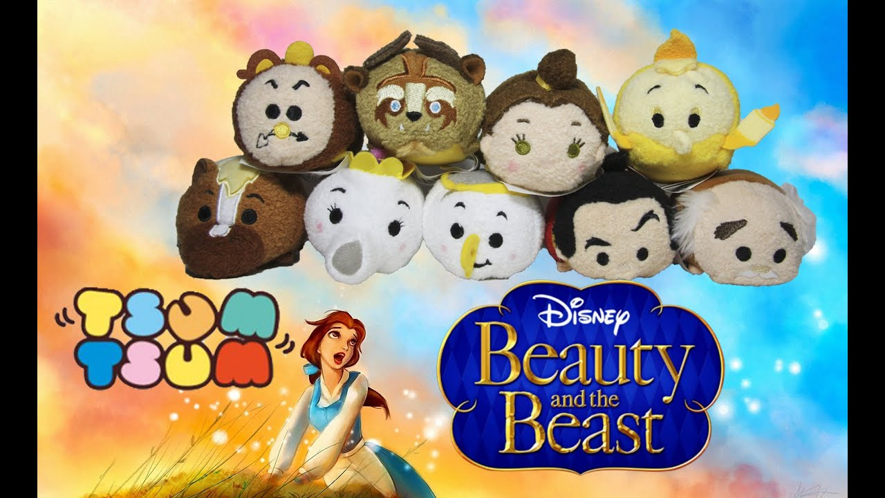 efa7769bc21 Beauty and The Beast Tsum Tsum Collection Plush Set Review - YouTube