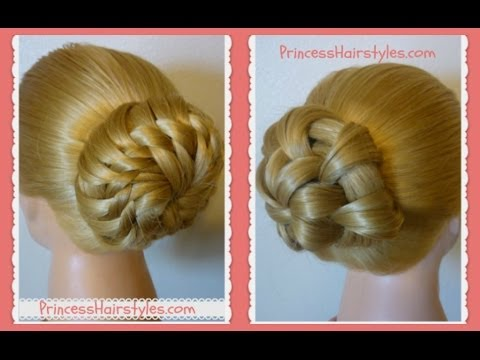 """prom-hairstyles-""""star-flower-bun""""-updo-tutorials"""