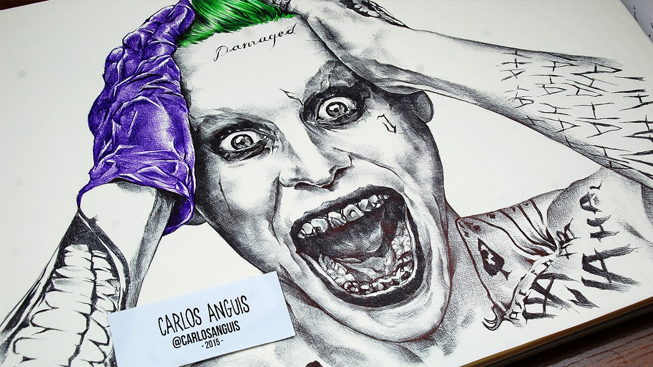 Uncategorized Drawing Joker drawing the joker with ballpoint pen youtube