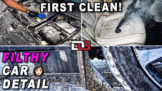 FIRST CLEAN of a Big DIRTY Chrysler! | Satisfying Car Detailing of a Filthy Chrysler 200C