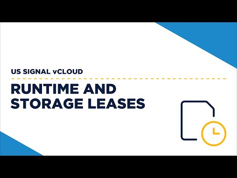 US Signal vCloud - Runtime and Storage Leases