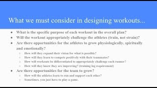 Dan Iverson - Cross Country Workout Design