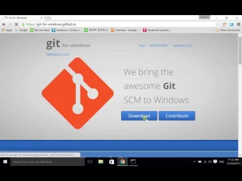 Install Git, Clone a project (Windows)