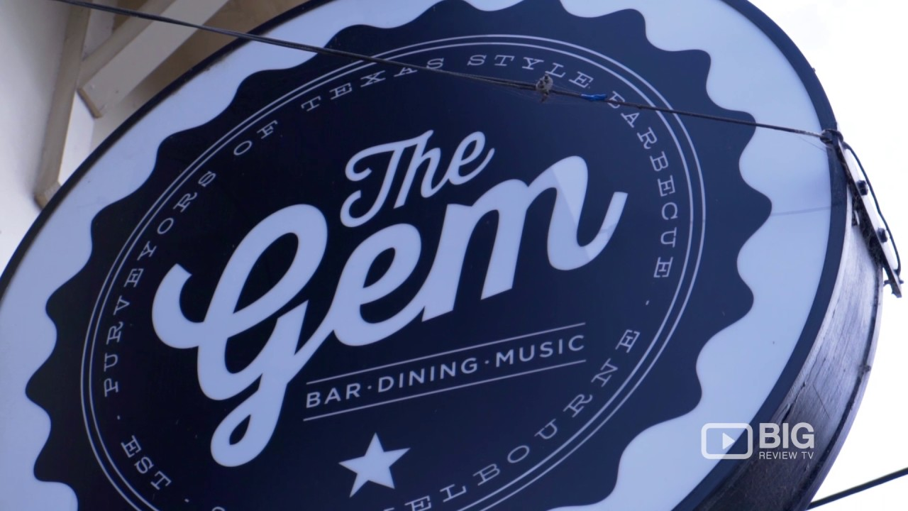 The Gem Bar A In Melbourne Serving American Food And Craft Beer