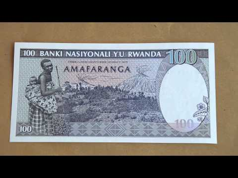 Foreign Currency Bank Note  100 cent francs Rwanda