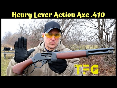 Henry Lever Action Axe .410 Range Review - TheFirearmGuy