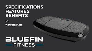 Bluefin Fitness Dual-Motor 3D-Vibrationsplatte Extra große Rutschfeste Fettabba