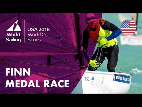 Full Finn Medal Race  Sailing's World Cup Series  Miami, USA 2018