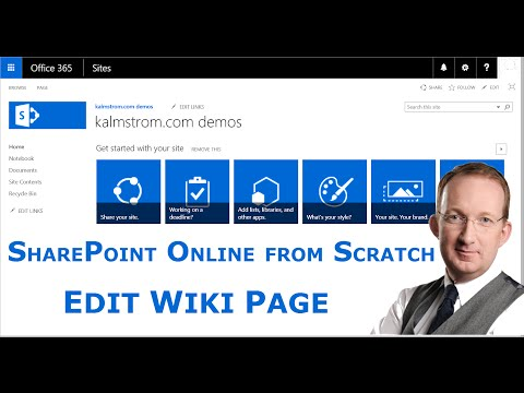SharePoint Wiki Page Editing - Introduction