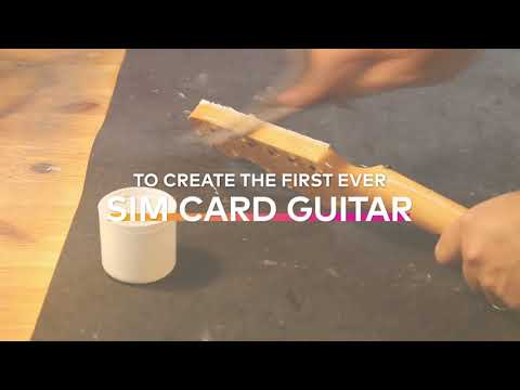 The world's first SIM card guitar