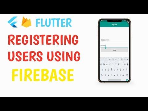 Flutter: Registering Users using Firebase Auth