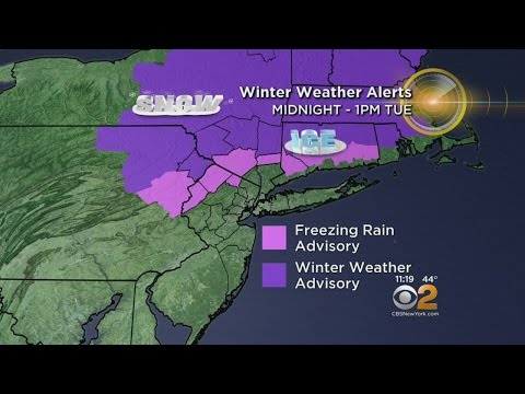 Overnight Winter Weather Advisory For Areas North Of NYC