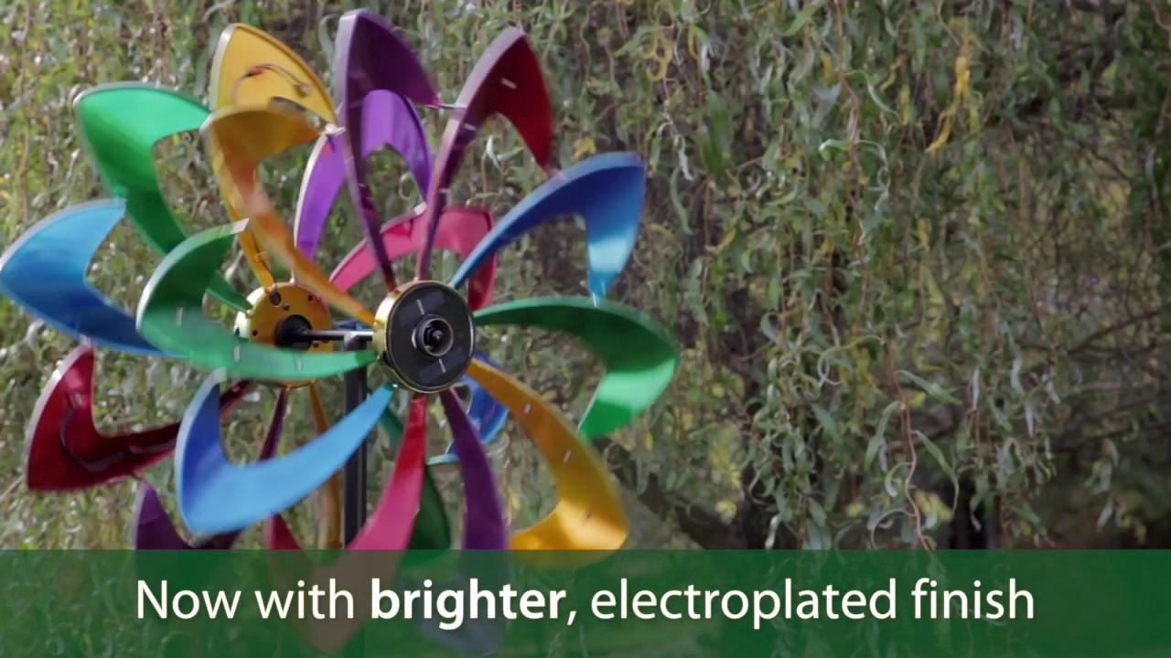 Solar Led Flower Wind Spinner Sku 53563 Plow Amp Hearth