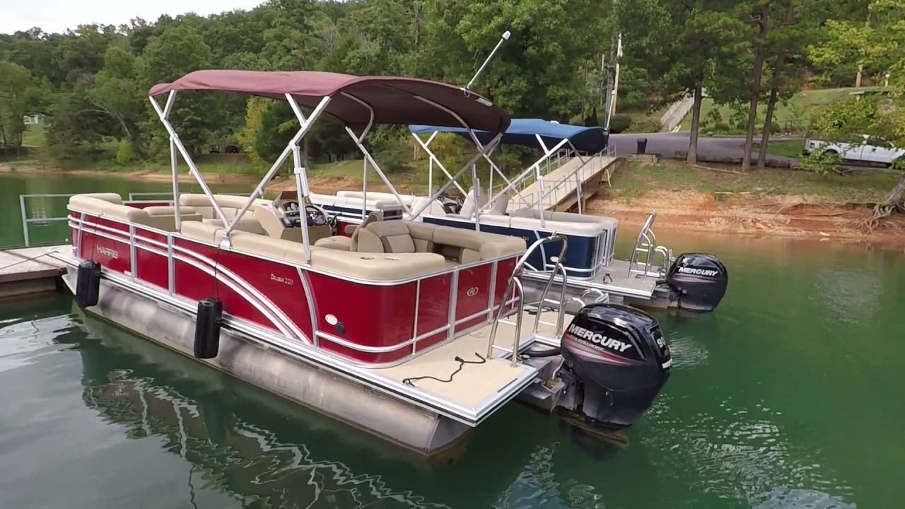 2018 Harris Cruiser 220 Pontoon with 90HP Mercury 4-Stroke Outboard For  Sale on Norris Lake