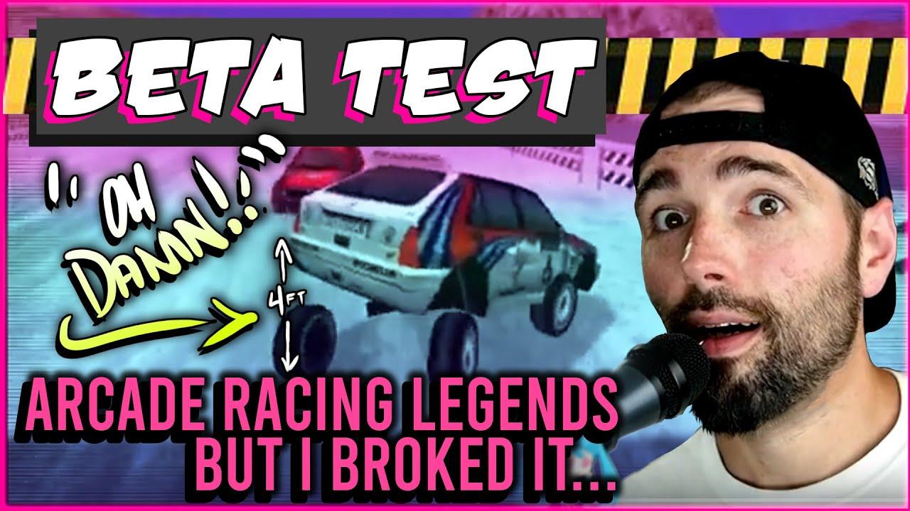 Sega Dreamcast Indie JoshProd Arcade Racing Legends Beta