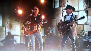cowboys like us george strait and eric church performing live at cma awards 2014