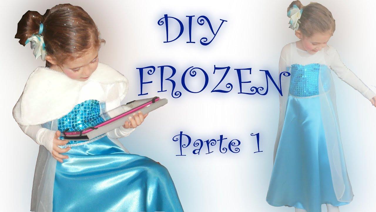 1.Disfraz Frozen - hacer patrón vestido - YouTube