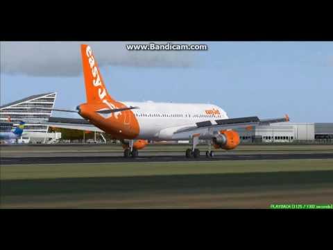 EasyJet A320 Lille Airport LFQQ Landing FS9