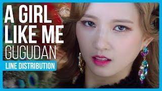 gugudan a girl like me 나 같은 애 line distribution color coded