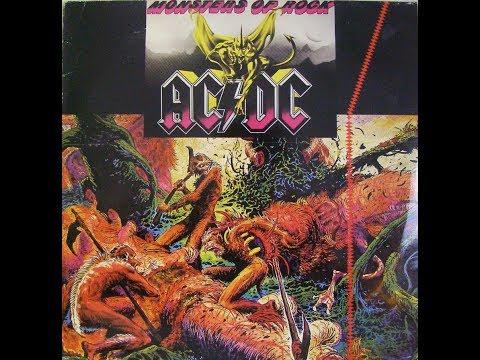 AC/DC Monsters Of Rock Råsunda Stadion Stockholm 1984-08-25