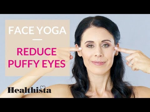 Face yoga exercises to reduce puffy eyes in 4 minutes