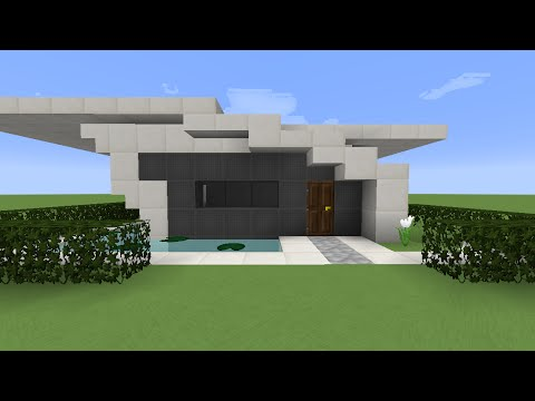 minecraft tuto construction d 39 une petite maison moderne. Black Bedroom Furniture Sets. Home Design Ideas