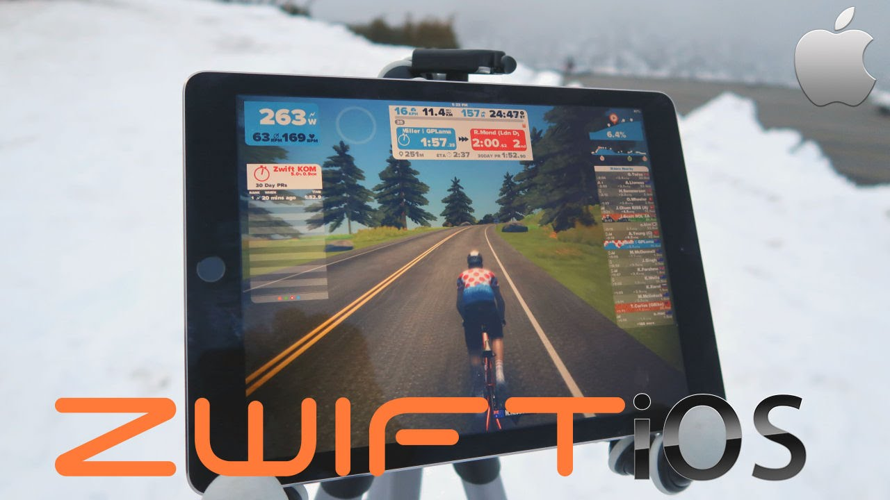 First Look Zwift On The Iphone Ipad Youtube