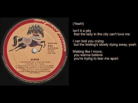 Splinter - City Lady lyrics - Dark Horse Records promo LP