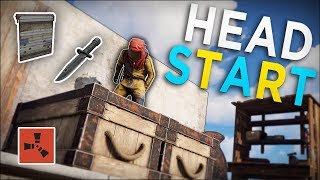LOOTING DECAYING BASES to get me STARTED in a NEW LOCATION! - Rust Solo Survival #2