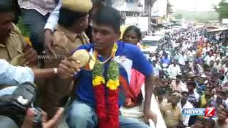 Mariyappan Thangavelu gets warm welcome in Salem | News7 Tamil