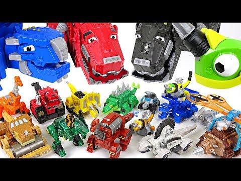Dinotrux have so many tiny friends! 15 mini dinotrux appeared!! - DuDuPopTOY